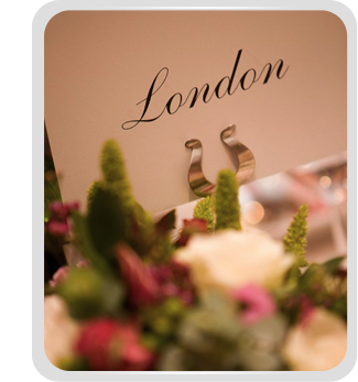 Beautifully styled wedding by our Wedding Planners in London